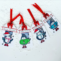 Penguin Christmas gift tags, Christmas gift tags, luxury tags