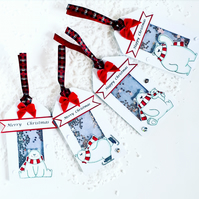 Luxury Christmas gift tags, pack of Christmas gift tags