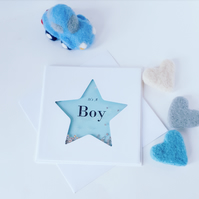 New baby boy card, it's a boy card, congratulations on your new baby boy card