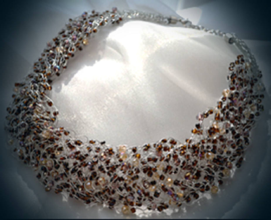 Jewellery, jewelry, Necklaces,   Necklace, winter jewellery, Sand beads necklace