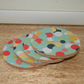 Fabric topped cork coasters Riley Blake Confetti