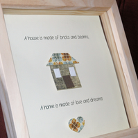 Framed Home Decoration - A home is made of love and dreams, new home gift