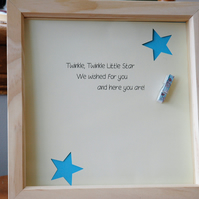 Baby Boy Photo Frame Gift - New Baby, Baby Shower, Christening, Baptism