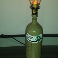 Upcycled Hydrogen Bottle Lamp
