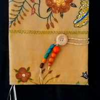 Flower fabric book cover