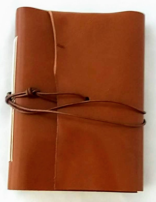 Leather wrap around A6 blank journal