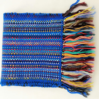 Scarf, pure wool, hand woven.