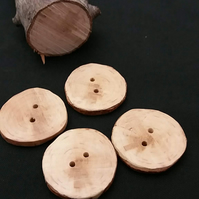 Set of four tree branch buttons, Blackthorn