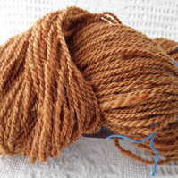 Hand spun Aran weight wool from local sheep