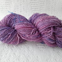 Hand spun 4ply weight wool from local sheep