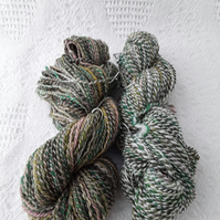 Hand spun yarn.DK weight. Super soft silk and merino wool.