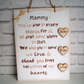 Mother's Day Gift. Personalised Plaque for Mum. Hand-painted Sign with Message