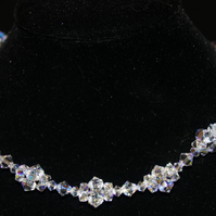Crystal Cluster Bridal Wedding Necklace set featuring Swarovski® Crystals