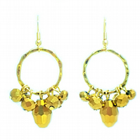 Gold christmas party cluster earrings