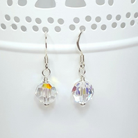 Sparkly crystal drop earrings made with Swarovski crystals & sterling silver