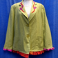 Ladies linen upcycled silk trimmed jacket size 20