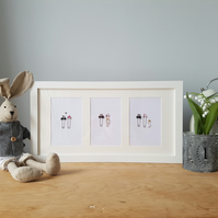 New Baby Personalised Frame - Safety Pin Art