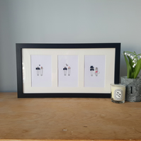 Personalised Wedding Frame - Safety Pin Picture