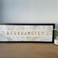 Personalised Map - Vintage Playing Card Framed Picture