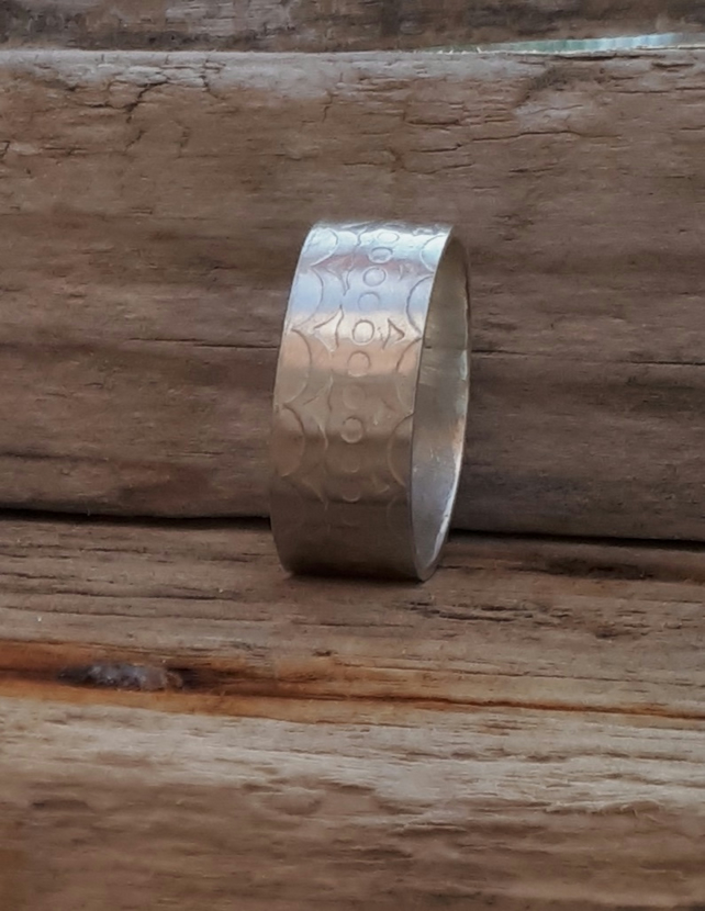 Etched Wedding Ring