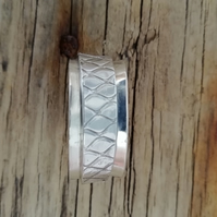 Chunky textured Silver Wedding Ring by MidasTouch Jewels (Made to order)