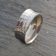 9ct white gold Textured Wedding Ring
