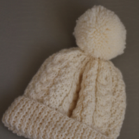 Traditional aran bobble hat