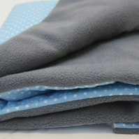 "Wellness Fleece & Cotton Reversible ""Skye"" Baby Blanket"