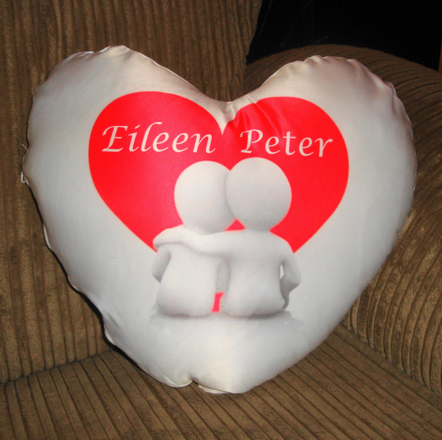Personalised Heart Cushion 35 cm