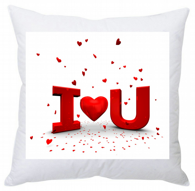 Personalised Square Cushion I Love U 35 cm