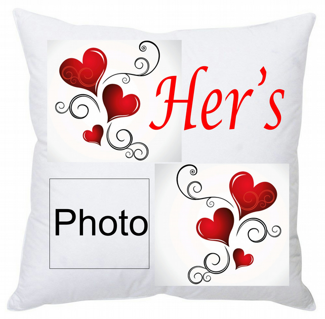 Personalised His & Hers Square Cushion 35 cm