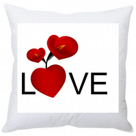 Personalised Valentine's Square Cushion Love Heart 35cm