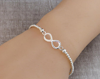 Sterling Silver Infinity Stacking Bracelet