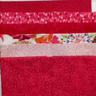 Fat Quarter Bundle of 6 Modern Pink Prints 100% Cotton