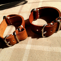 Leather Zulu Watch Strap,Nato Strap,Watch Strap,Handmade