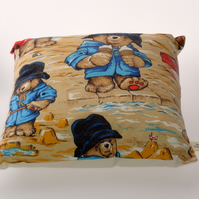 Paddington Bear at the seaside cushion cover
