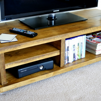 KRUD TV Stand Handmade Solid Wood Scaffold Style 24 Colours Industrial Chunky