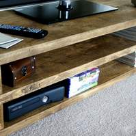 KRUD Simple TV Stand Handmade Solid Wood Scaffold Style 24 Colours Chunky