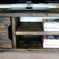 KRUD 23 100cm Wenge Retro TV Stand - Handmade - Solid Wood - Scaffold Style