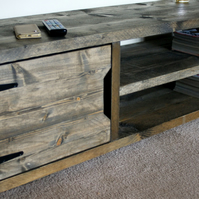 KRUD 23 140cm Driftwood Retro TV Stand - Handmade - Solid Wood - Scaffold Style