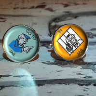 Monopoly Go to Jail Cufflinks