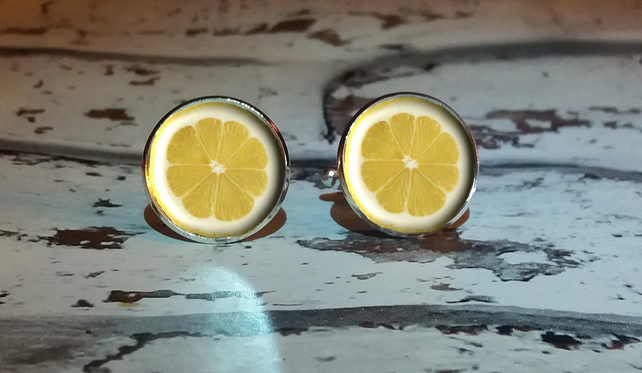 Lemon Cufflinks