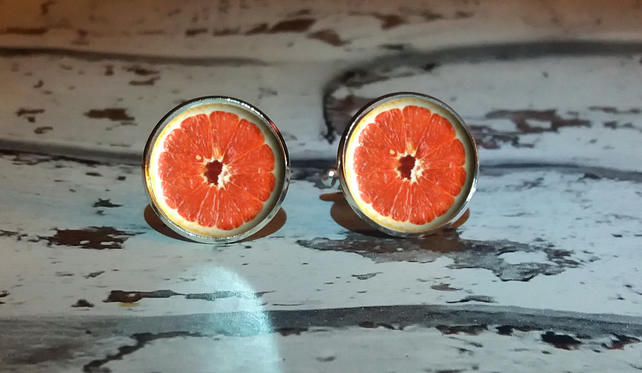 Pink Grapefruit Cufflinks