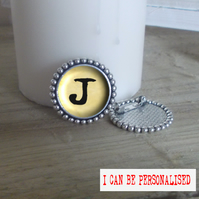 Personalised Initial Silver Plated Brooch