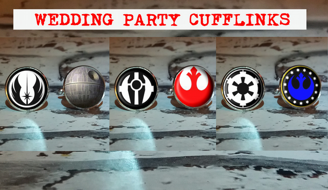 Wedding Party Star Wars Cufflinks