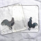 Gift for chicken lover, Fused glass coasters, Chicken gift, Chicken coaster