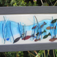 Fused glass wall art, Framed glass art, Fused glass art, Framed fish picture