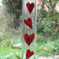 Valentines gift, Heart sun catcher, Heart shapped, Copper hearts
