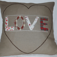 'Love Heart' Scatter Cushion with free UK Delivery
