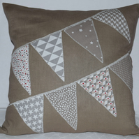 'Bunting Pattern' Scatter Cushion with Free UK Delivery